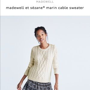 Madewell Sezane cable knit sweater